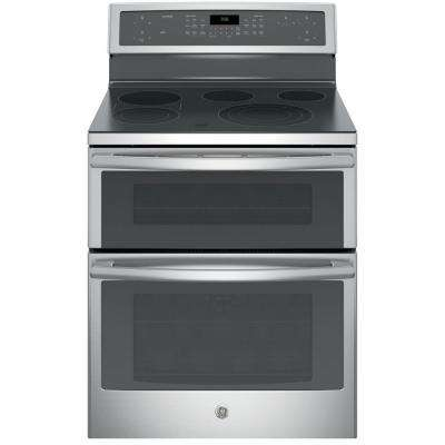 30 in. 6.6 cu. ft. Double Oven Electric Range with Self-Cleaning Convection Oven (Lower Oven) in Stainless Steel