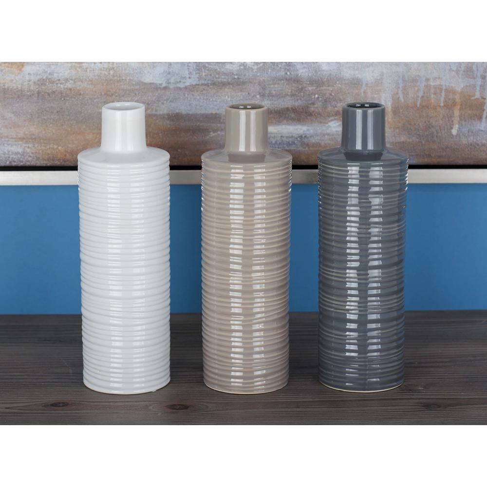 Assorted Ceramic Decorative Vases (Set of 3)