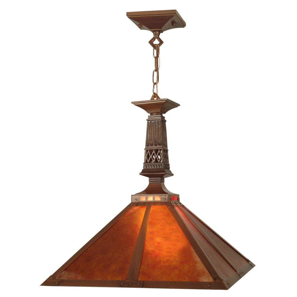 Dale Tiffany Tiffany Mission 1-Light Antique Bronze Hanging Fixture-DISCONTINUED