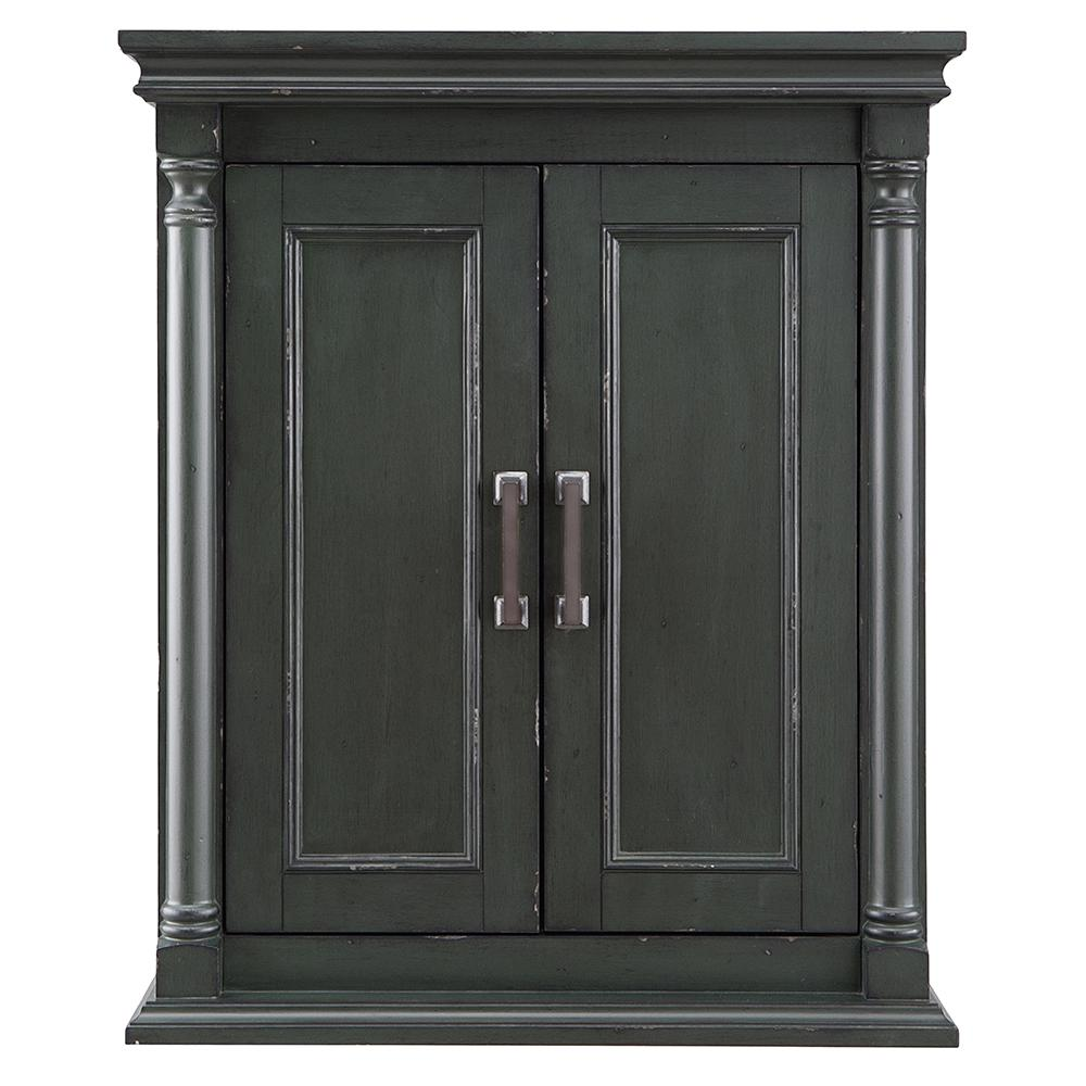 Home Decorators Collection Greenbrook 25 in. W x 30 in. H Wall Cabinet in Vintage Forest Green