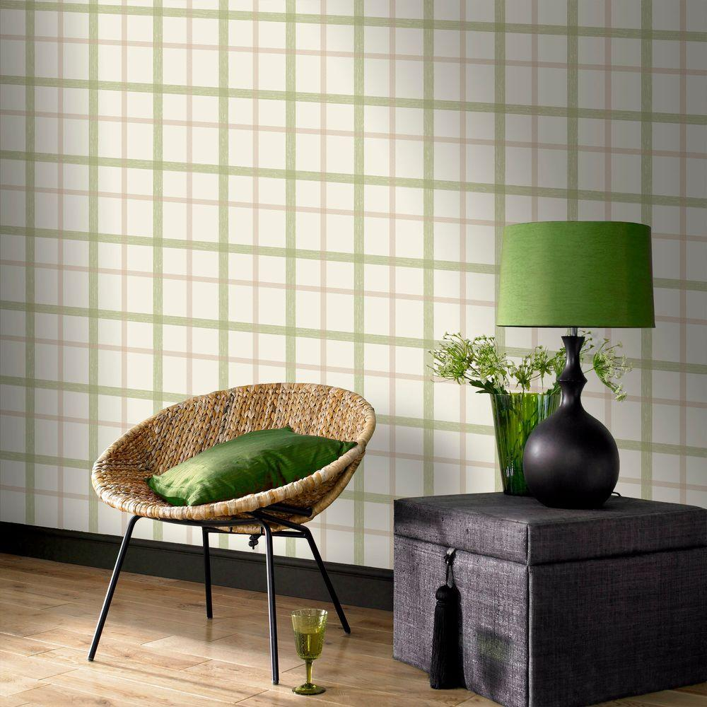 Graham & Brown 56 sq. ft. Plaid Wallpaper