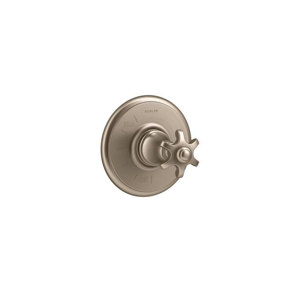Artifacts 1-Handle Wall-Mount Tub and Shower Faucet Trim Kit in Vibrant Brushed Bronze (Valve Not Included)