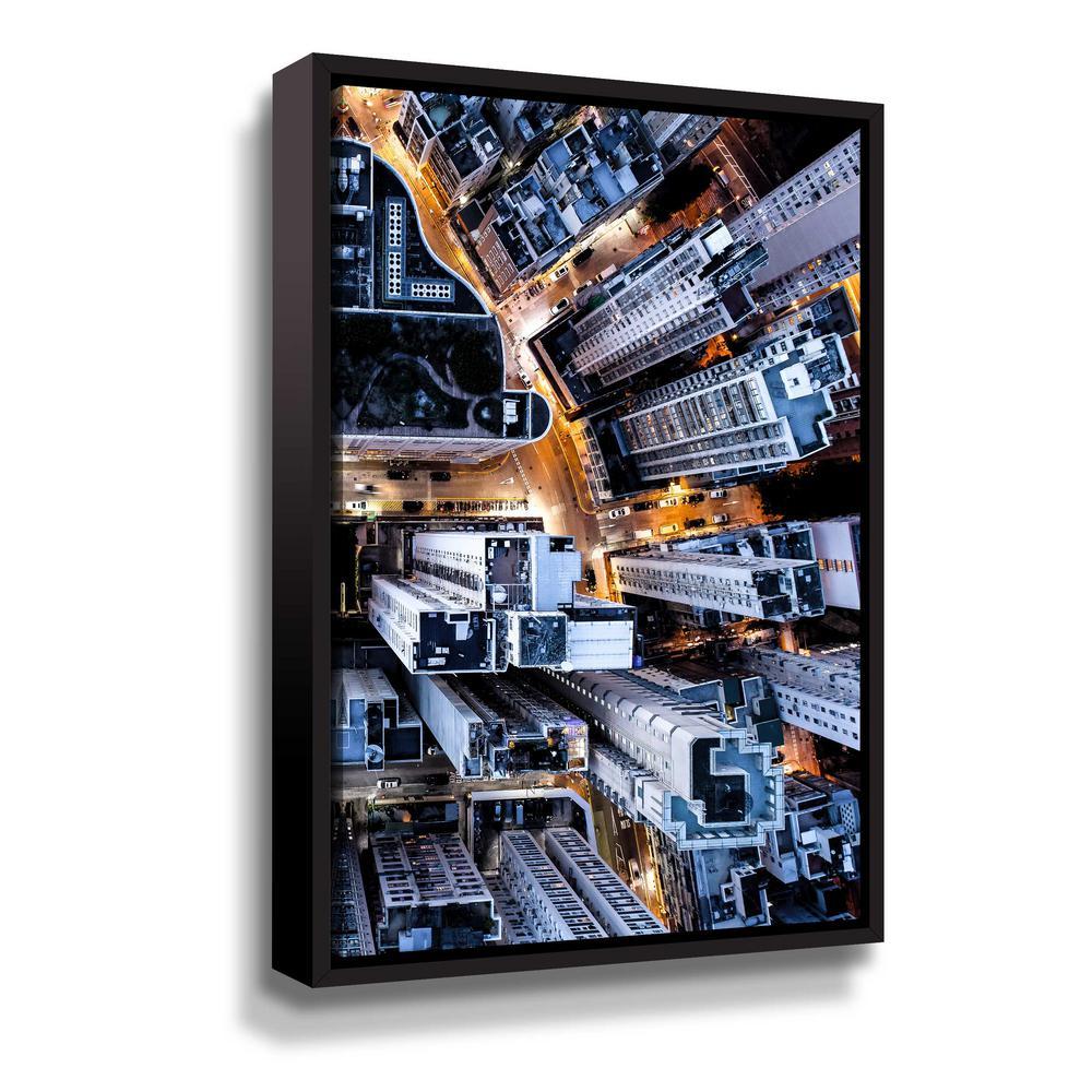 ArtWall Hongkong II' by PhotoINC Studio Framed Canvas Wall Art
