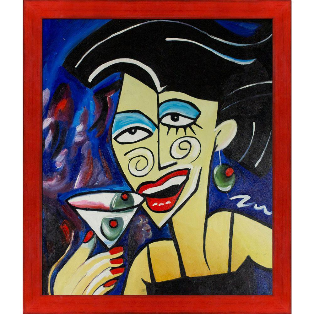 ArtistBe Picasso by Nora, One More Drink with Stiletto Red Frameby Nora Shepley Canvas Print, Multi-color was $771.01 now $374.9 (51.0% off)