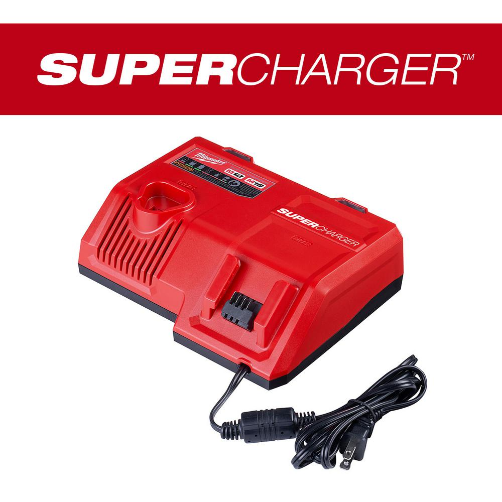 Milwaukee M12 and M18 12-Volt/18-Volt Lithium-Ion Multi-Voltage Super Charger Battery Charger