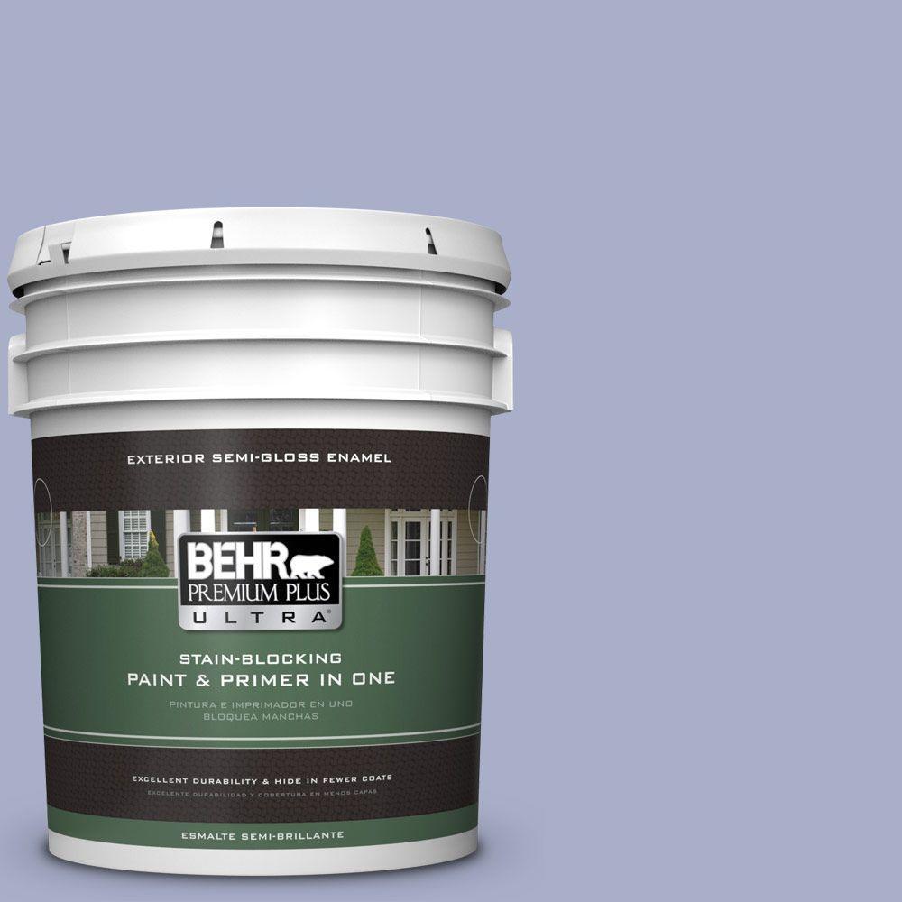 BEHR Premium Plus Ultra 5-gal. #S540-3 Meadow Phlox Semi-Gloss Enamel Exterior Paint