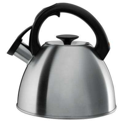 Good Grips Click-Click 8.4-Cup Brushed Stainless Steel Tea Kettle