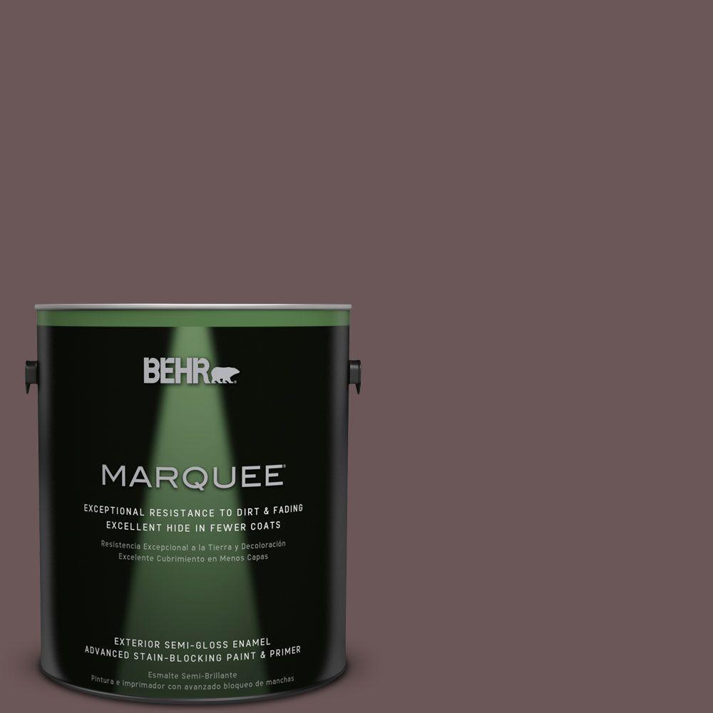 1-gal. #N120-7 Grand Plum Semi-Gloss Enamel Exterior Paint