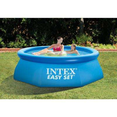 8 ft. x 30 in. Easy Set Inflatable Pool with 330 GPH Pump and 6-Cartridges
