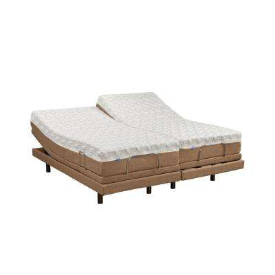 compare 11 in dahlia split king memory foam mattress and adjustable base set