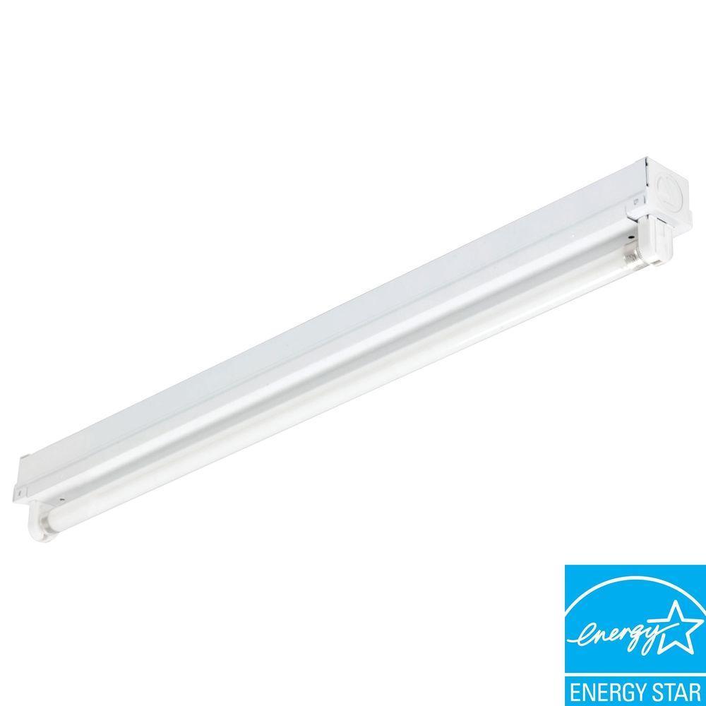 Lithonia Lighting MNS5 1 14 LP Mini Strip 1-Light White Fluorescent Utility Light