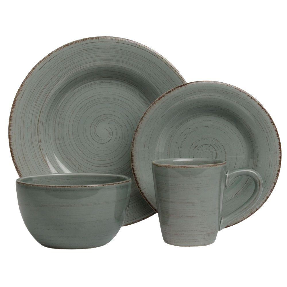 Tag Sonoma 16-Piece Dinnerware Set in Slate Blue  sc 1 st  The Home Depot & Tag Sonoma 16-Piece Dinnerware Set in Slate Blue-TAG556070 - The ...