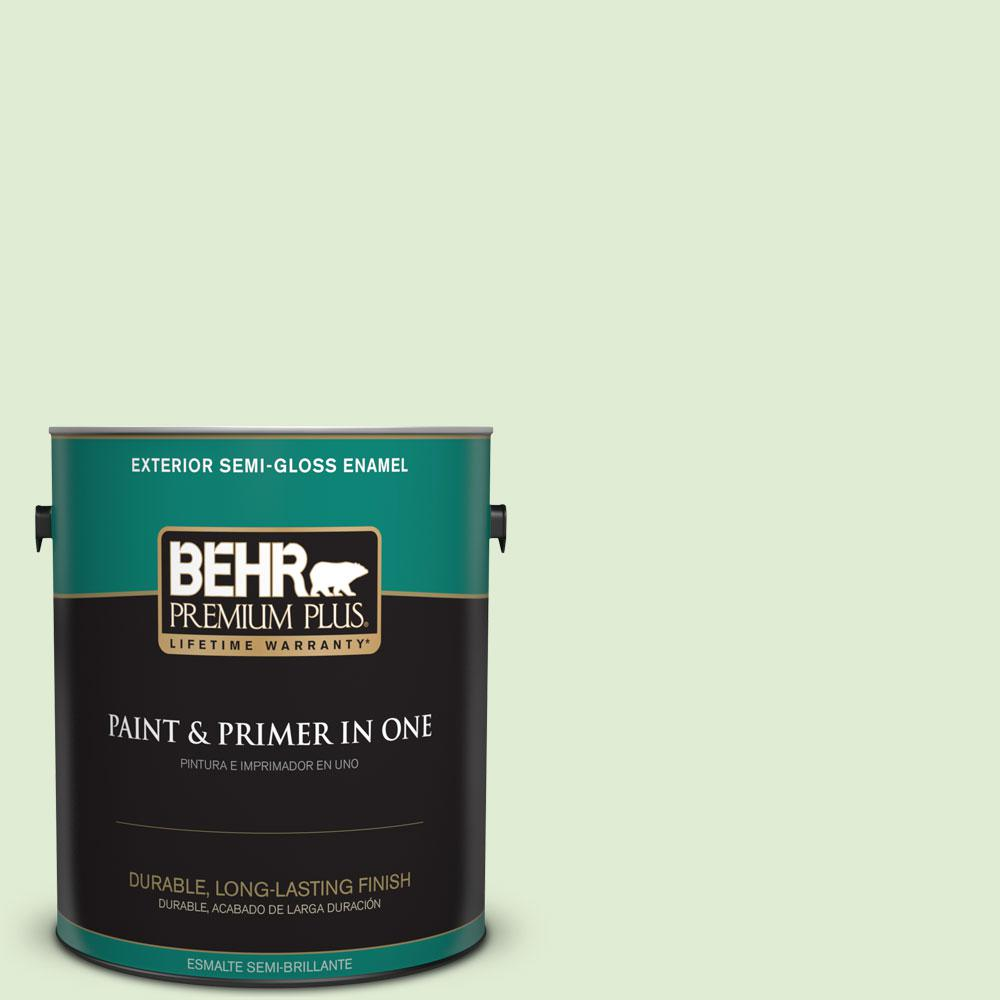 1-gal. #P380-2 Misted Fern Semi-Gloss Enamel Exterior Paint