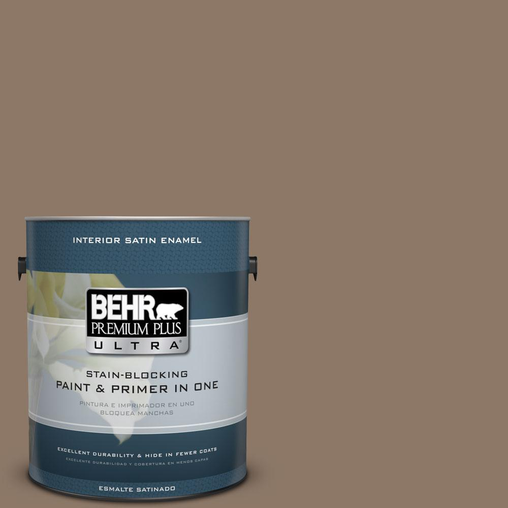 1 gal. #PPU5-5 Coconut Shell Satin Enamel Interior Paint and Primer