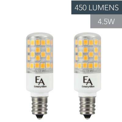 50-Watt Equivalent E12 Base Dimmable 2700K LED Light Bulb Warm White (2-Pack)