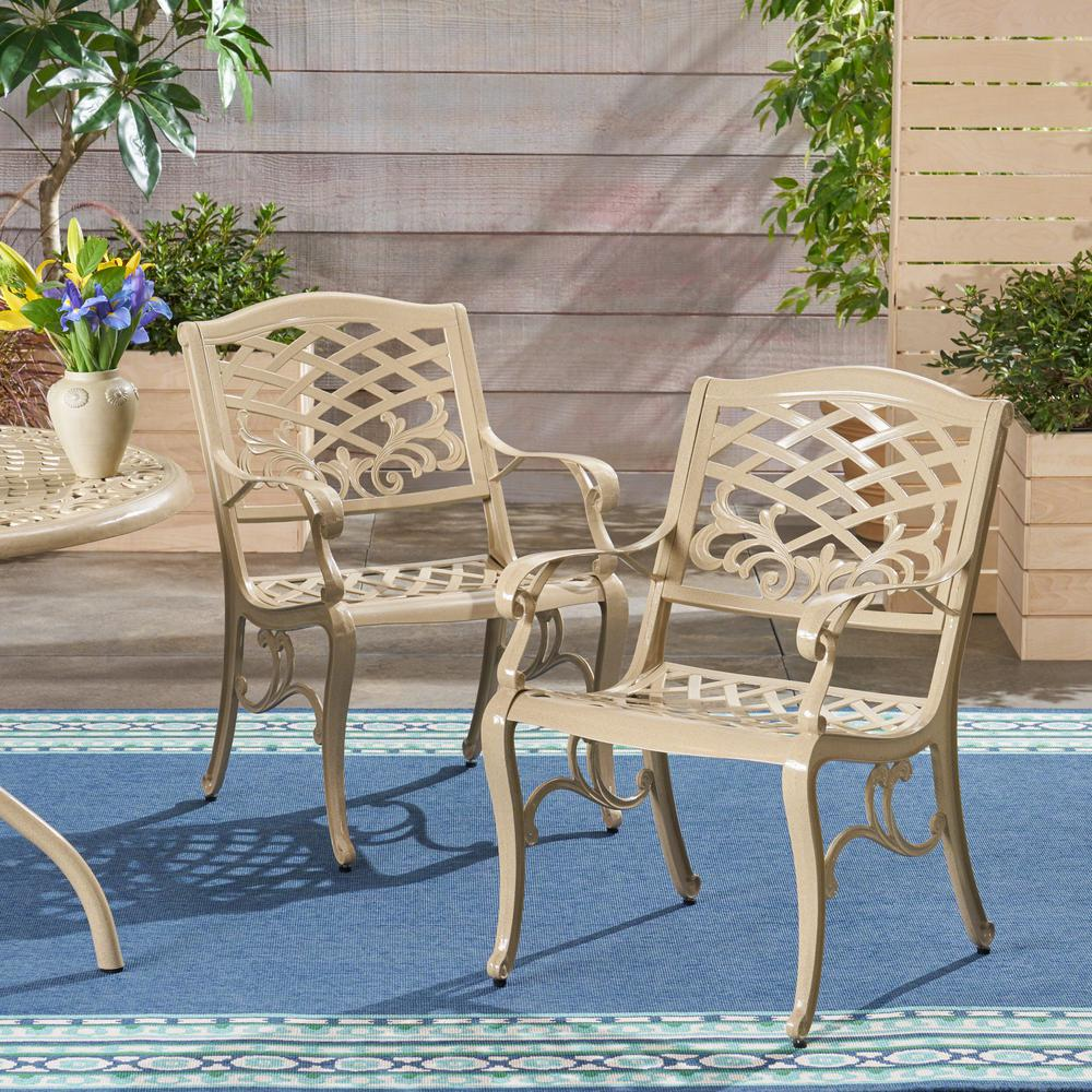 Armed Aluminum Outdoor Lounge Chairs