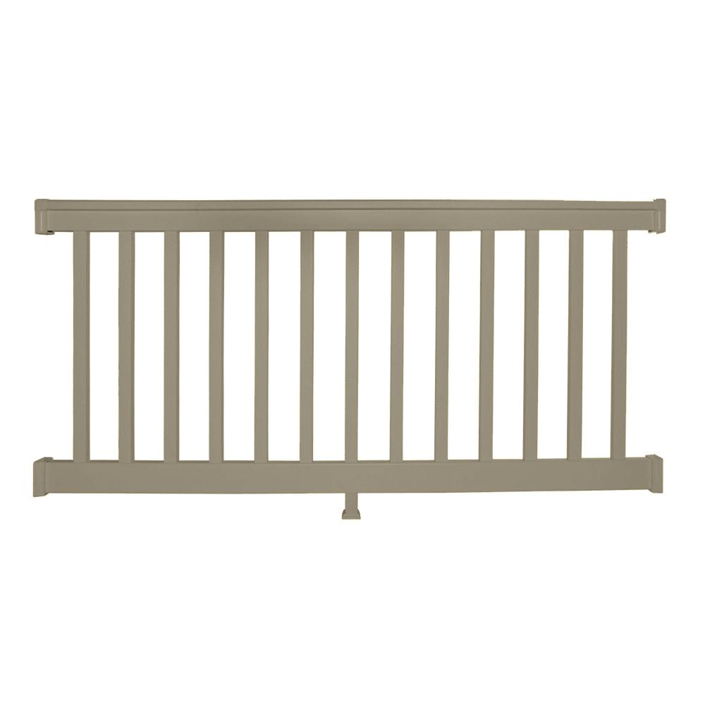 Weatherables Vanderbilt 36 in. H x 72 in. W Khaki Vinyl Straight Railing Kit