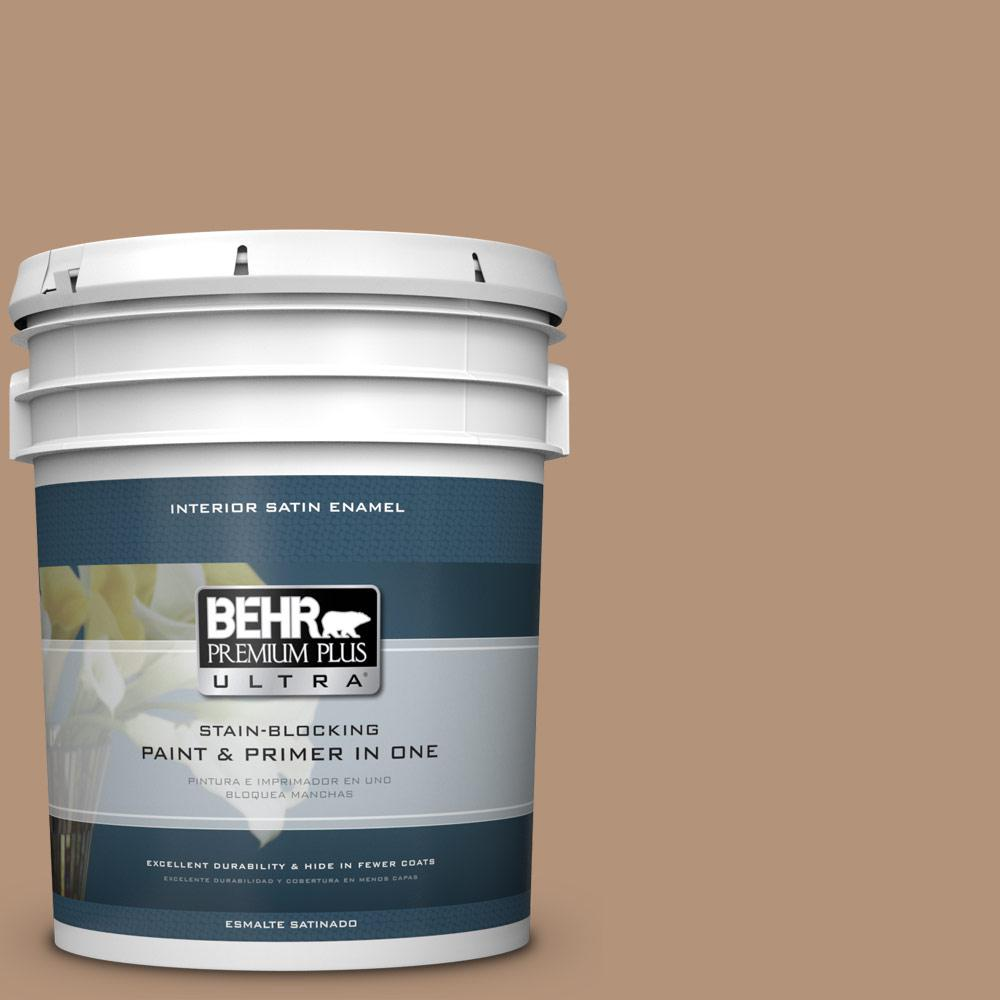 5 gal. #HDC-FL14-6 Gingerbread Latte Satin Enamel Interior Paint