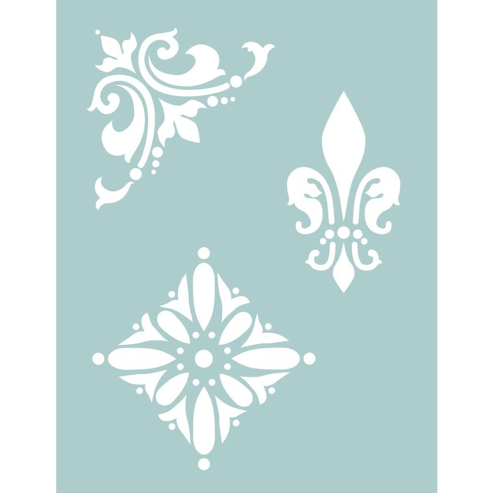 DecoArt 8.5 x 11 in. Traditional Medallion Stencil-DISCONTINUED