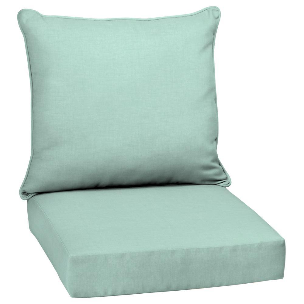 24 X Aqua Leala Texture 2 Piece Deep Seating Outdoor Lounge Chair Cushion