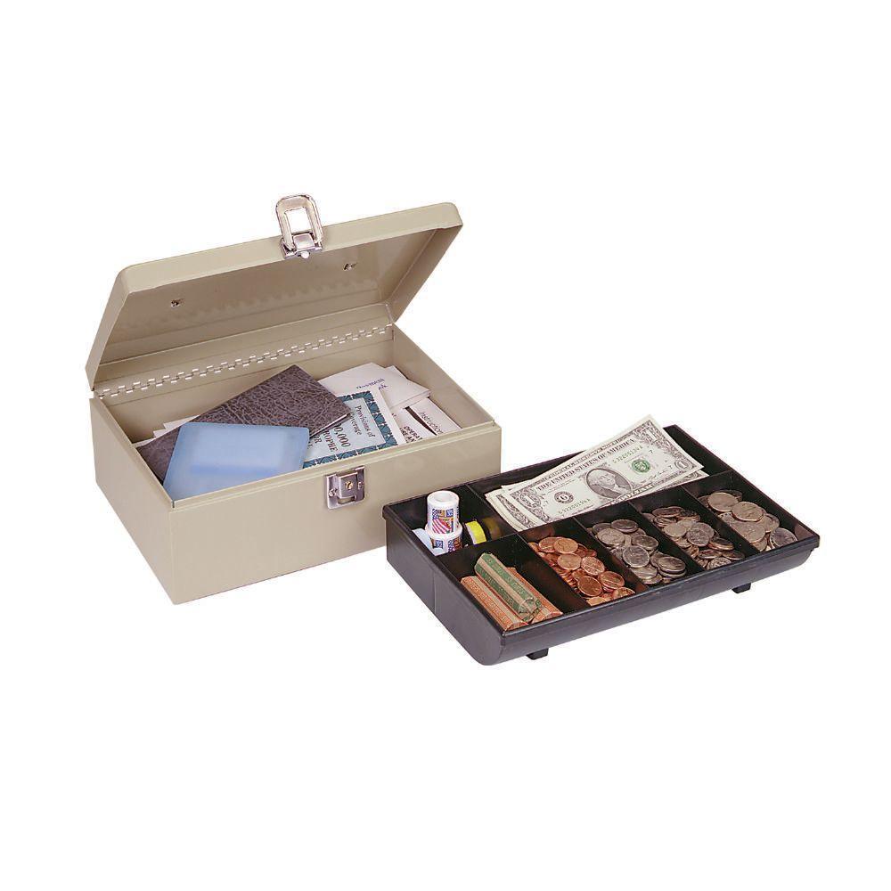Cash Box with Locking Latch Safe