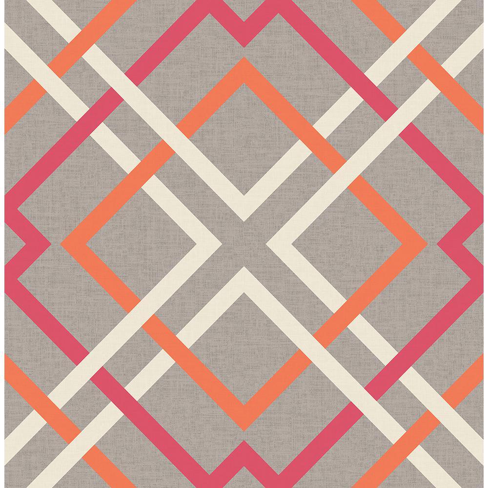 Saltire Pink Lattice Wallpaper