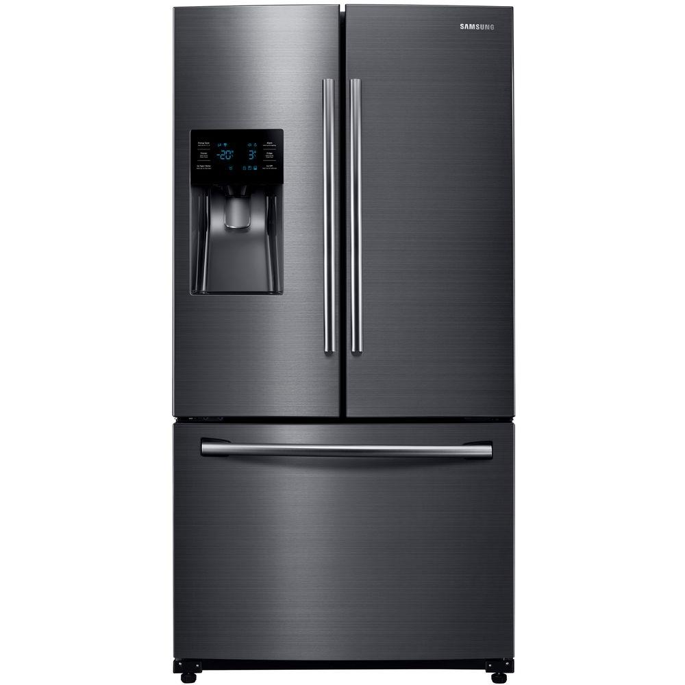 24 6 Cu Ft French Door Refrigerator In Fingerprint Resistant Black Stainless