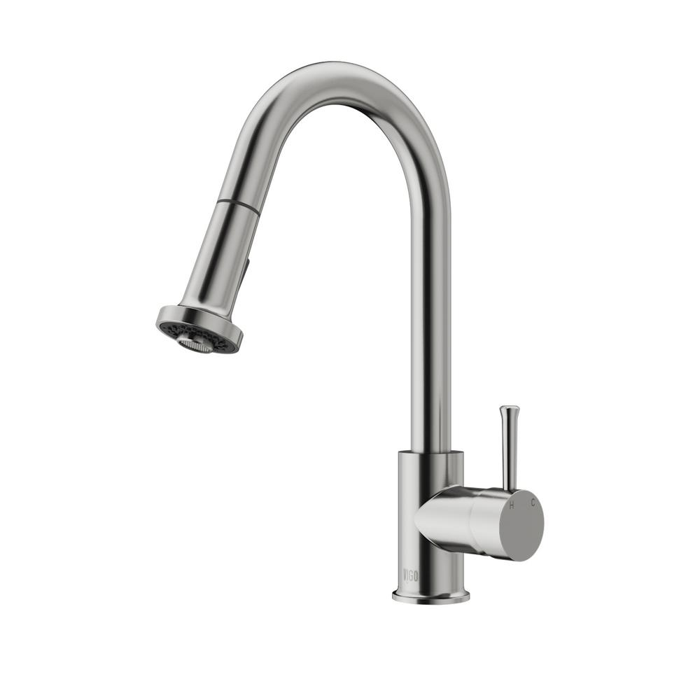 VIGO Harrison Single-Handle Pull-Down Sprayer Kitchen Faucet in ...