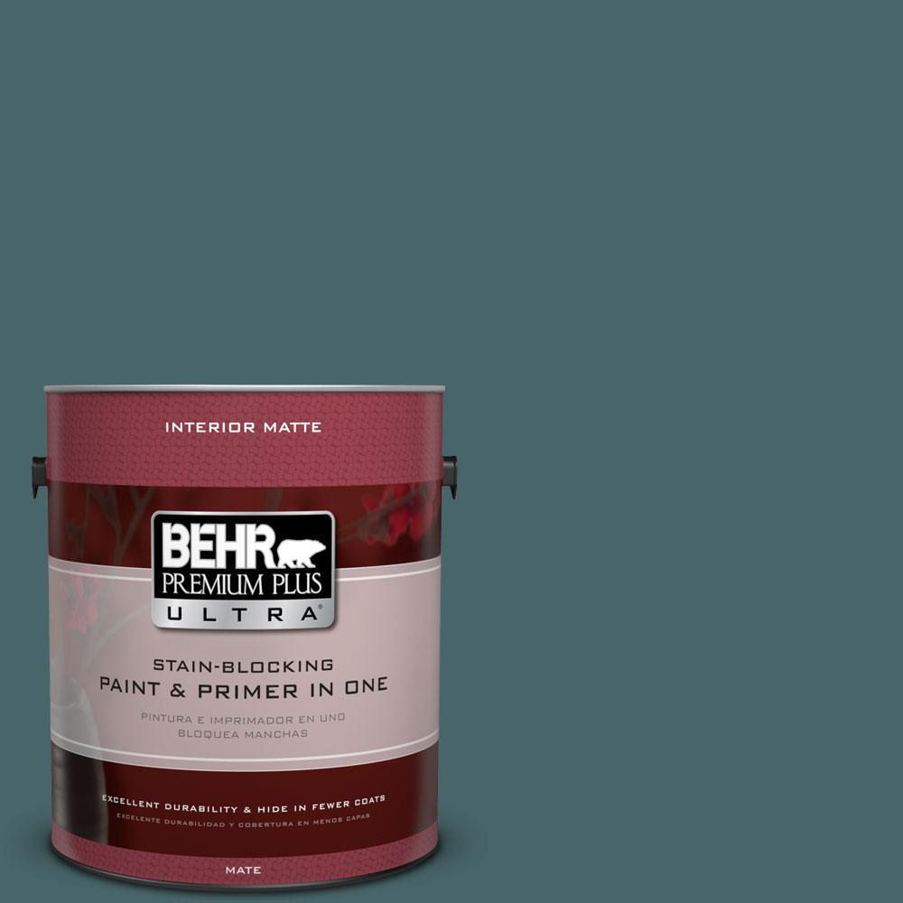 BEHR Premium Plus Ultra 1 gal. #500F-7 Mythic Forest Flat/Matte Interior Paint