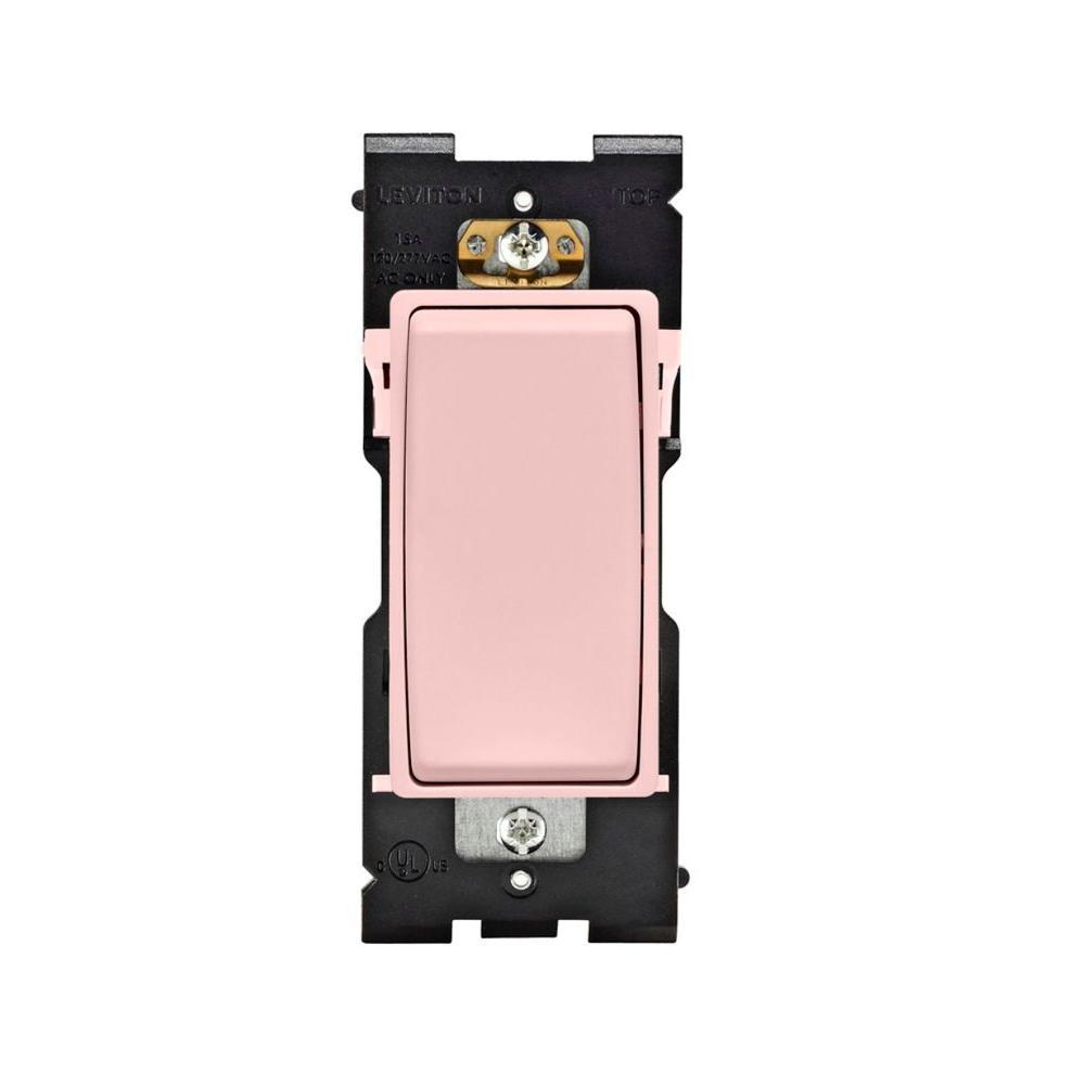 Leviton Renu 15 Amp Single Pole Rocker Switch - Fresh Pink Lemonade-DISCONTINUED