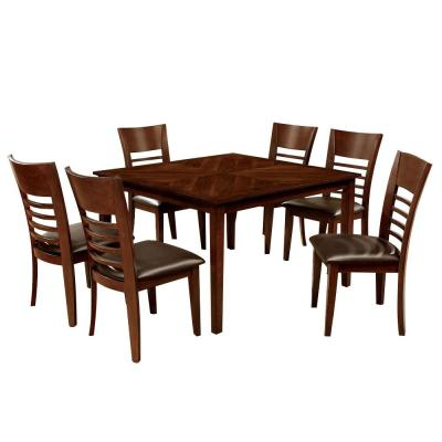 Hillsview i Brown Cherry 48 in. Dining Table Set (7-Piece)