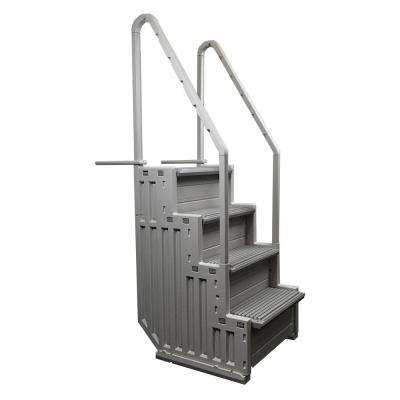 Ladder Step System Entry for Above Ground Pool with 2 Sand Weights