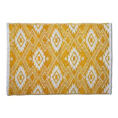 Folk Poly Amber 2 ft. x 3 ft. Rectangular Indoor/Outdoor Area Rug