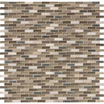 Silver Tip 12 in. x 12 in. x 8 mm Glass Stone Metal Blend Mesh-Mounted Mosaic Wall Tile (1 sq. ft.)