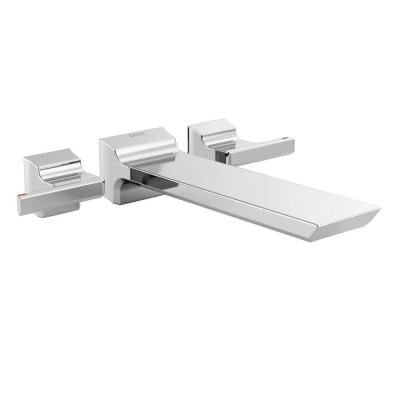 Pivotal 2-Handle Wall-Mount Roman Tub Faucet Filler Trim Kit in Chrome (Valve Not Included)