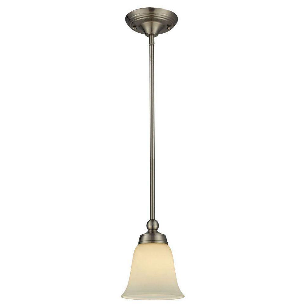 Titan Lighting Sullivan 1-Light Brushed Nickel Ceiling Pendant