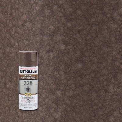 12 oz. Hammered Matte Brown Protective Spray Paint (6-Pack)