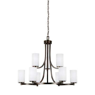 Hettinger 9-Light Burnt Sienna Chandelier with LED Bulbs