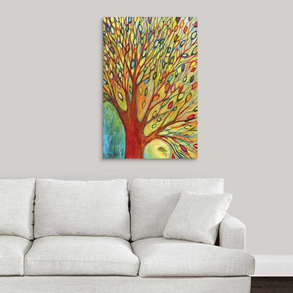 """Rainbow Tree In Autumn"" by Jennifer Lommers Canvas Wall Art"