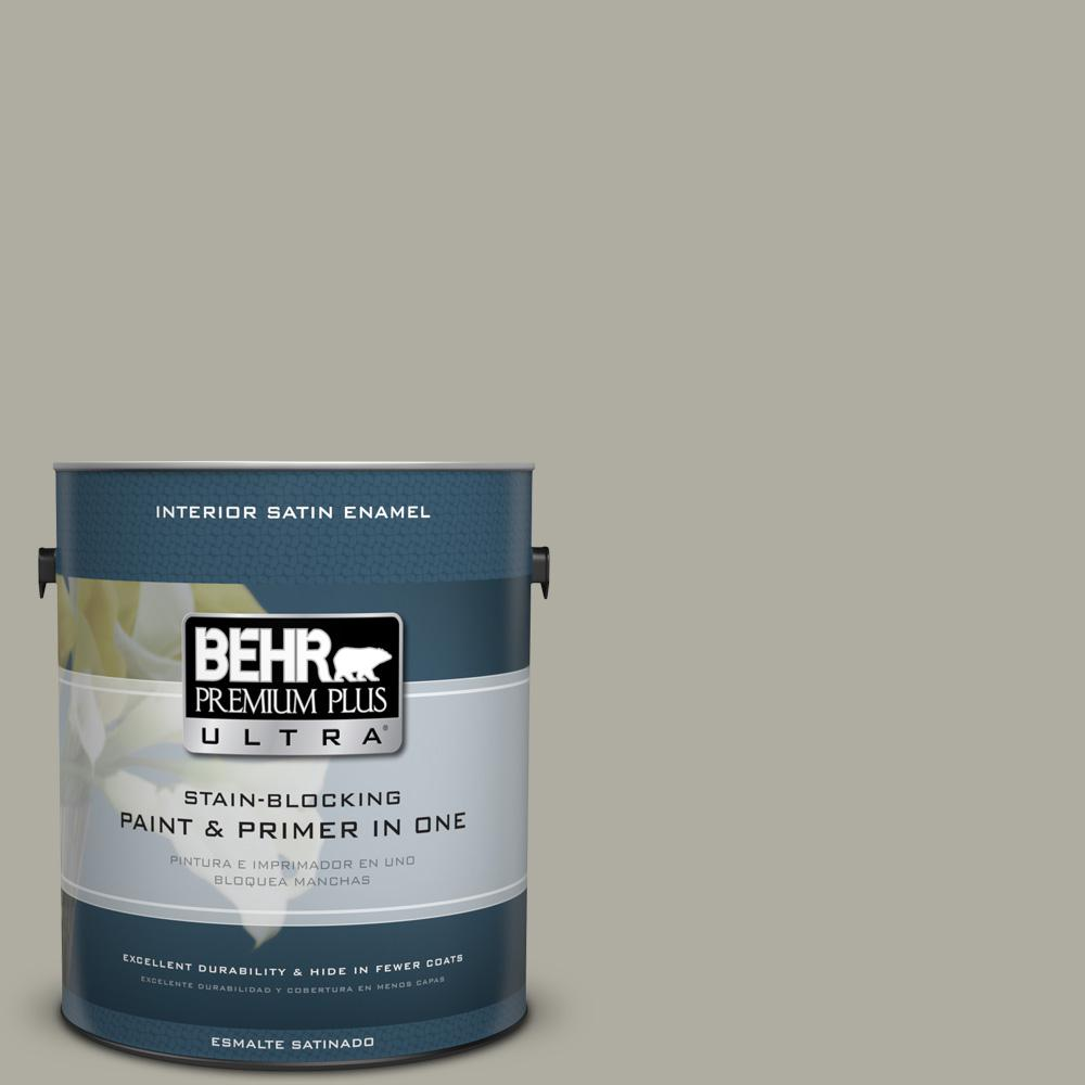 1 gal. #PPU25-06 Wells Gray Satin Enamel Interior Paint