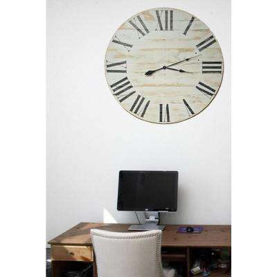 36 in. x 36 in. Oversized Farmhouse Wood Wall Clock