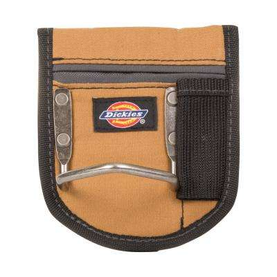 1-Pocket Steel Loop Hammer Holder Tool Pouch, Tan