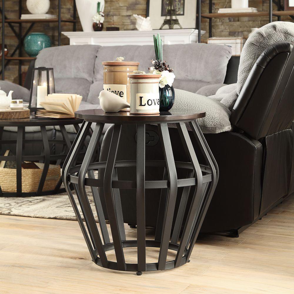 Pollard Black End Table