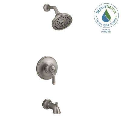 Worth 1-Handle 3-Spray Tub and Shower Faucet in Vibrant Brushed Nickel
