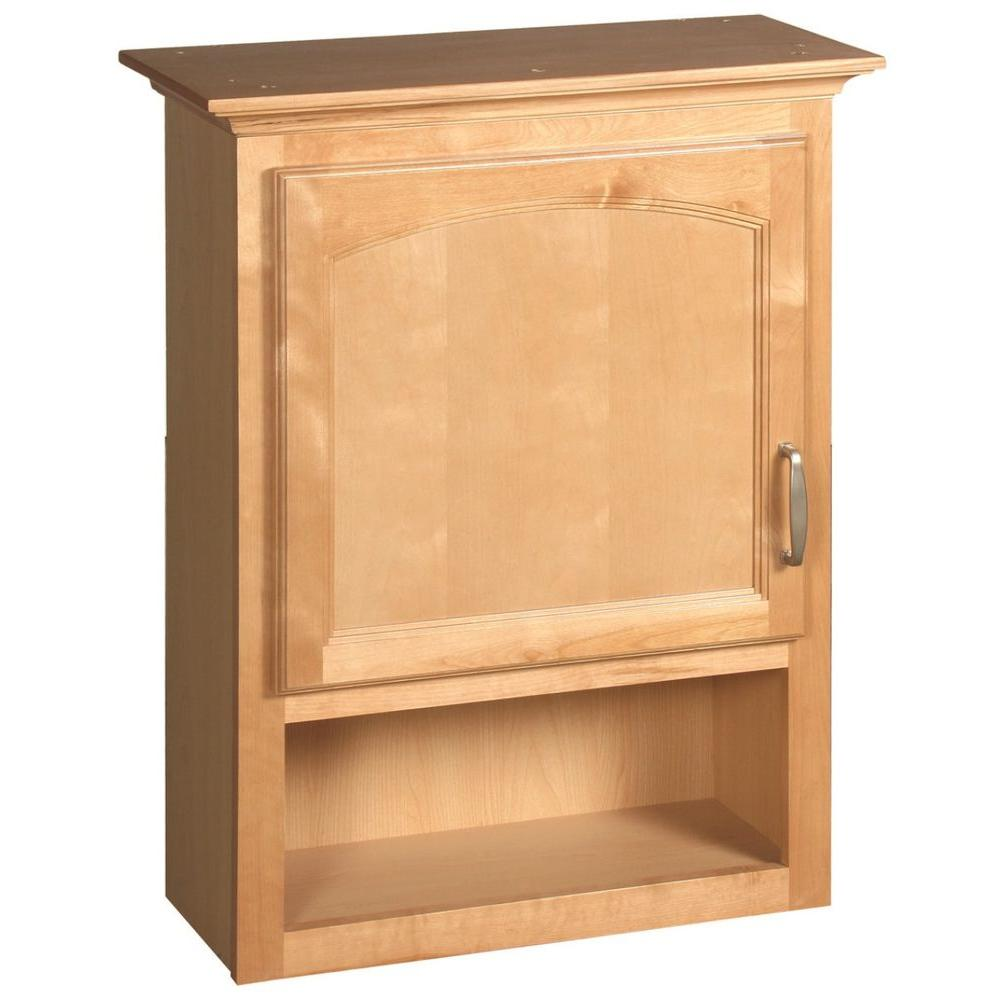 Design House Belmont 23-3/4 in. W Bath Storage Cabinet in Maple-DISCONTINUED