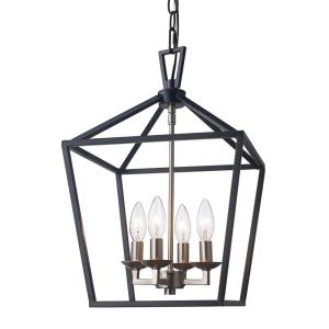 home and decor bel air lighting 4 light black and brushed nickel 10264