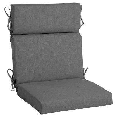 21.5 x 44 Sunbrella Cast Slate High Back Outdoor Dining Chair Cushion
