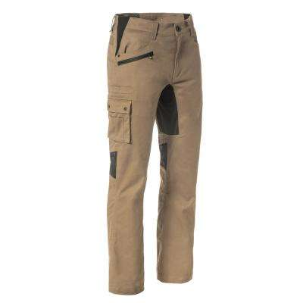 Operator Flex Men's 32 in. W x 34 in. L Dark Sand Cotton/Polyester/Spandex Stretch Work Pant