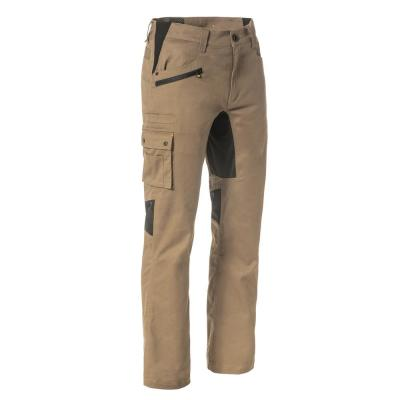 Operator Flex Men's 46 in. W x 30 in. L Dark Sand Cotton/Polyester/Spandex Stretch Work Pant