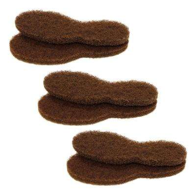 Large Brown Replacement Floor Boot Stripping Pad (3-Pair)